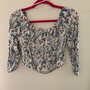 Floral off the shoulder crop top from H&M